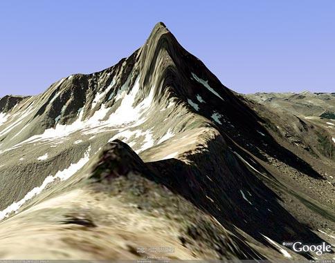 Wetterhorn Peak on Google