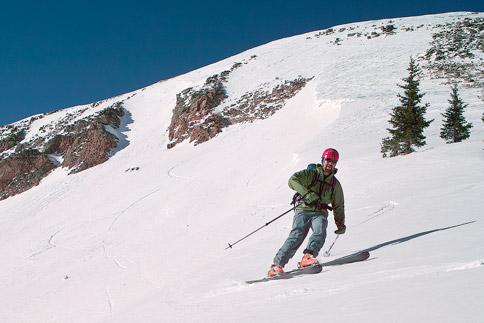 skiing to Burro Pass