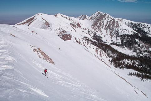 Skiing Manns Peak