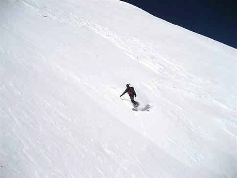 snowboarding in the La Sals