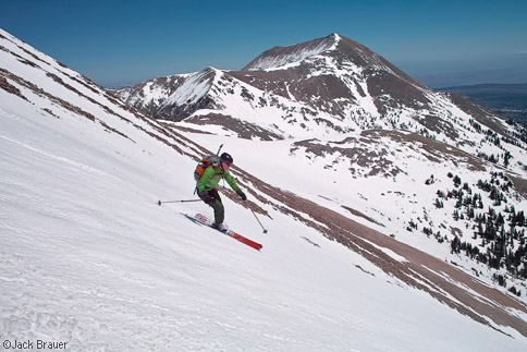 Skiing down Tuk