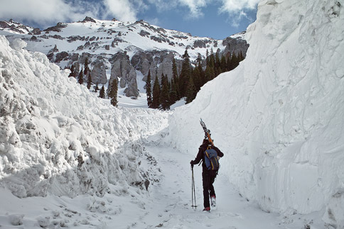 Camp Bird Road snowpack