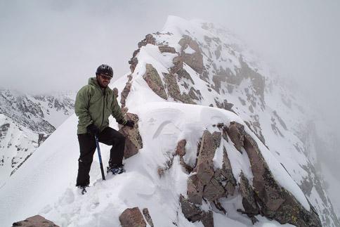 Cathedral Peak summit ridgeline