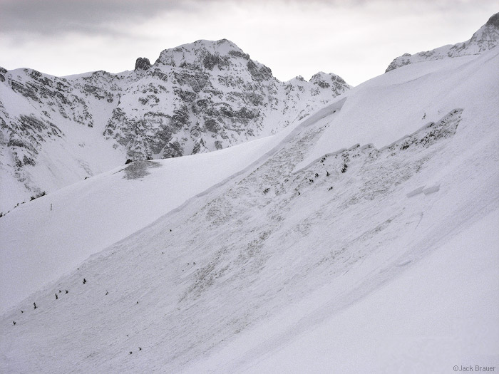 Avalanche crown, Silverton