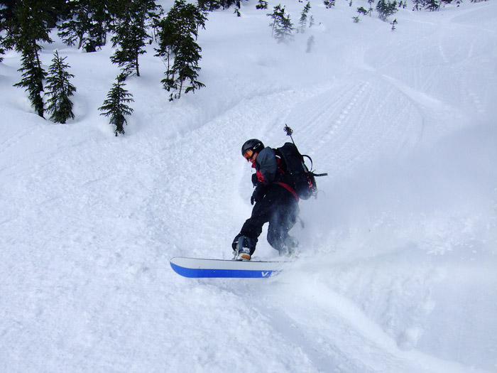 Jack snowboarding
