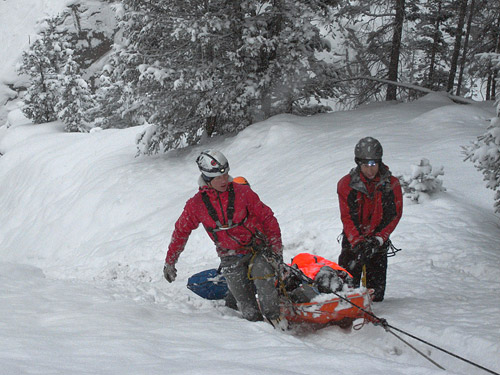 mountain rescue stretcher