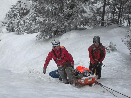 mountain rescue stretcher