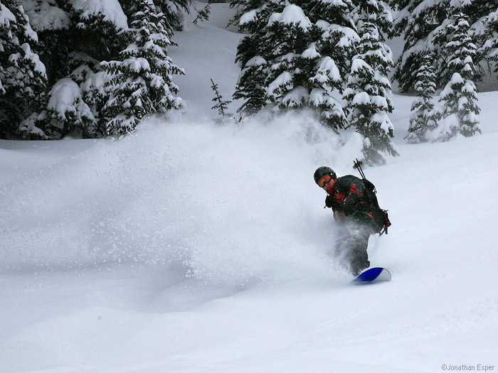 Jack slashes some powder