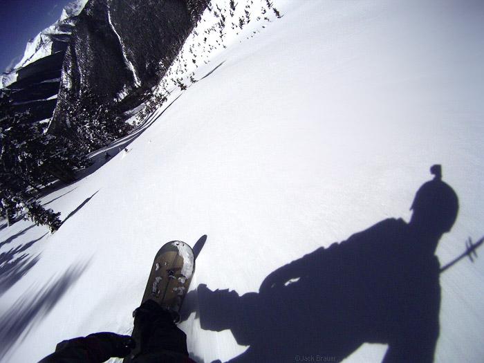 Snowboarding helmet cam