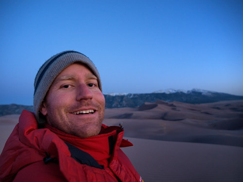Self Portrait in the Great Sand Dunes