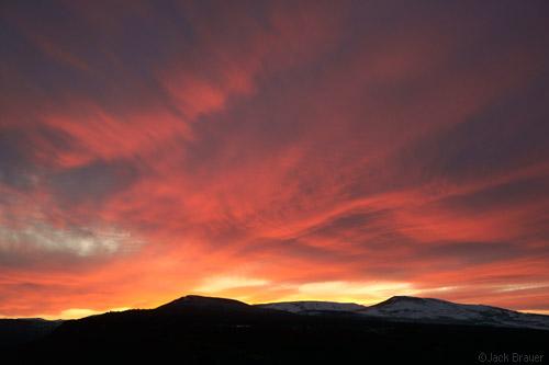 horsefly mesa sunset