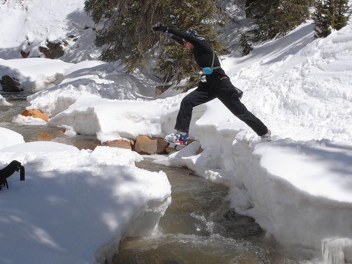 Jumping a creek