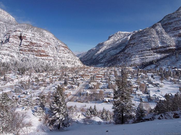Ouray Colorado in snow