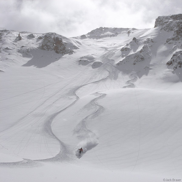Ski and snowboard tracks