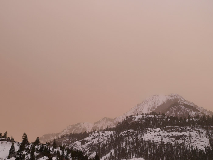 Dust Clouds over the mountains