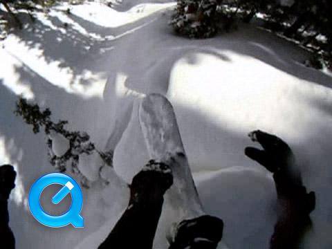 Snowboard helmet cam video