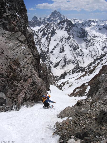 Snowboarding Mt. Moran