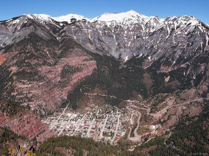 View of Ouray, Colorado