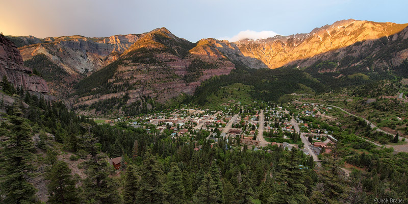Ouray Colorado alpenglow