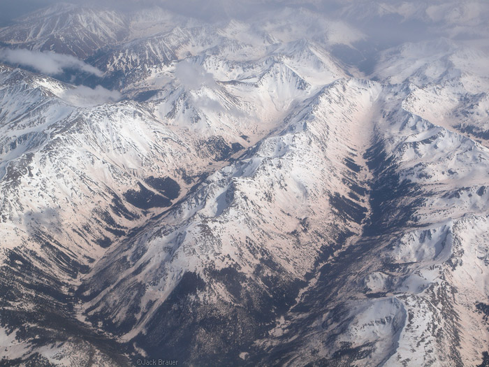 Sawatch Range Colorado aerial photo