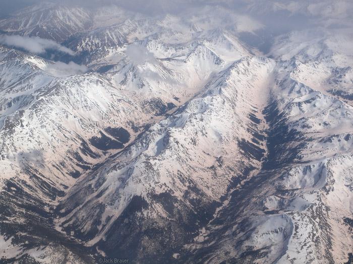 Sawatch Range Colorado aerial photo