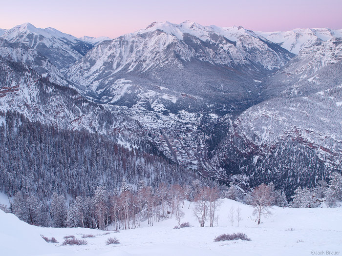 Ouray, Colorado in the winter