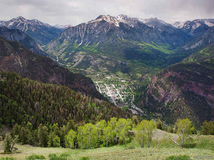 Ouray, Colorado in the spring