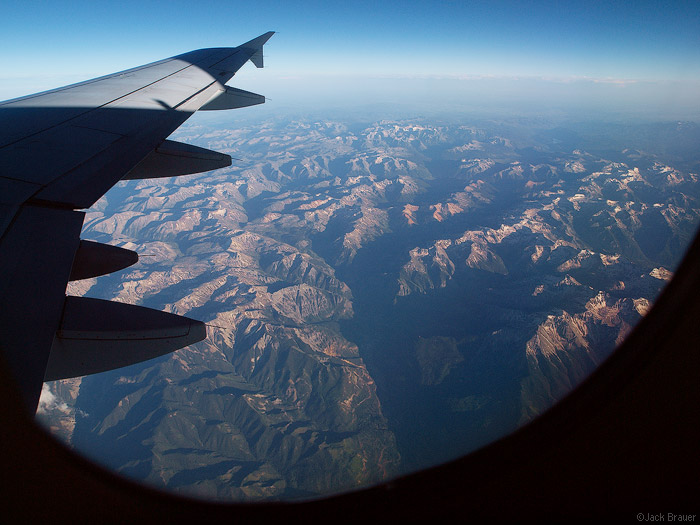 Aerial view of the San Juan Mountains