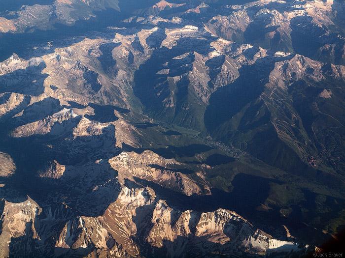 Aerial photo of Telluride, Colorado