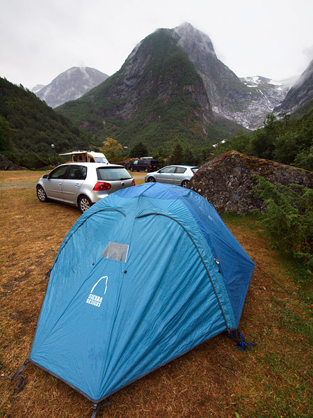 Tent at campground