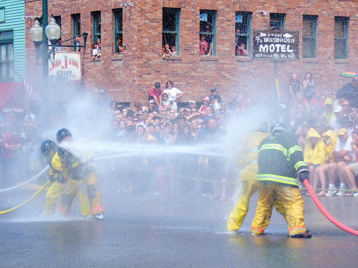 Water fight, Ouray