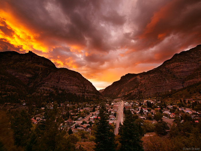 Sunset Over Ouray Colorado