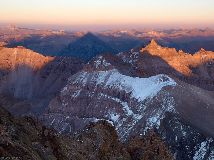 Sunset on the San Juans, from the summit of Mt. Sneffels, Colorado