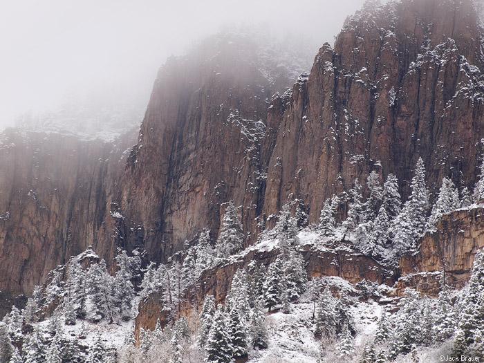 Snowy Cliffs above Ouray, Colorado