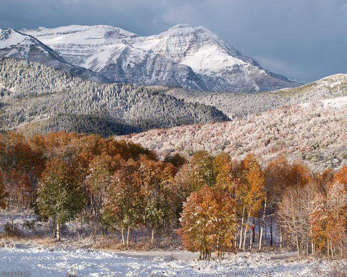 Mount Timpanogos with fresh snow