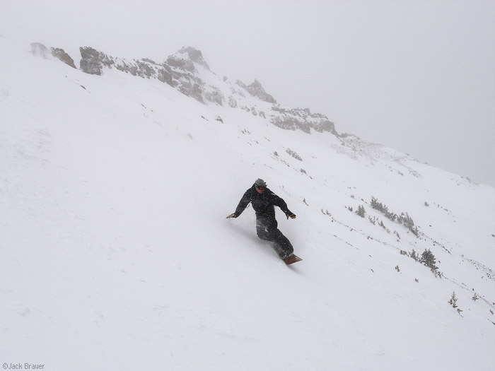 Jason King snowboarding