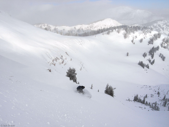 backcountry snowboarding in Wyoming