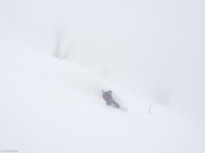 Snowboarding the powder