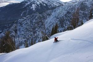 Jack Brauer snowboards