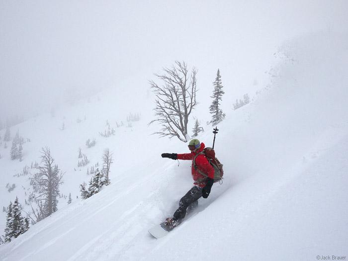 Snowboarding Teton Pass