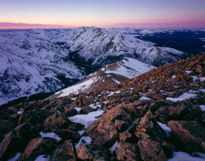 Mt. Massive as seen from Mount Elbert summit, Colorado