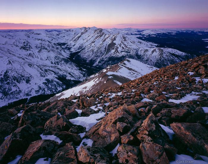 Mt. Massive as seen from Mount Elbert summit, Colorado