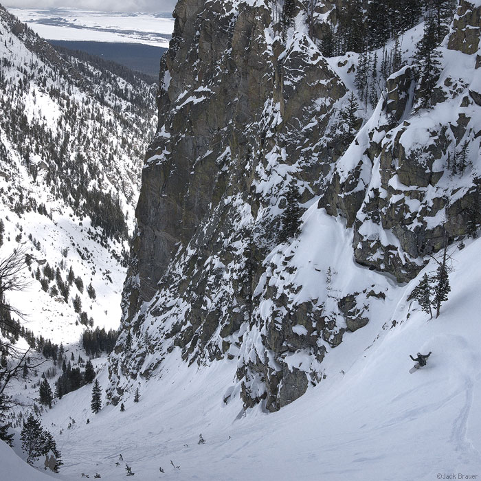 Big couloir off Jackson Hole