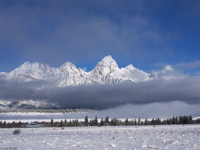 Grand Teton above the clouds