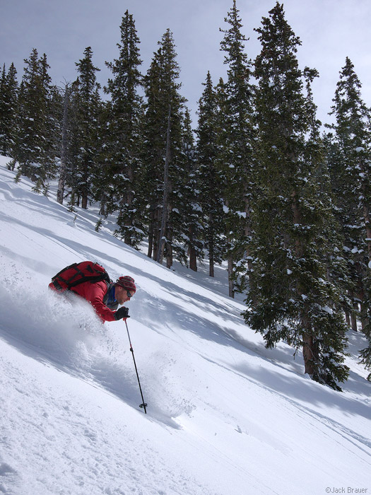 skiing powder in the San Juans