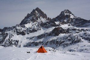 Tent on Hurricane Pass, Tetons