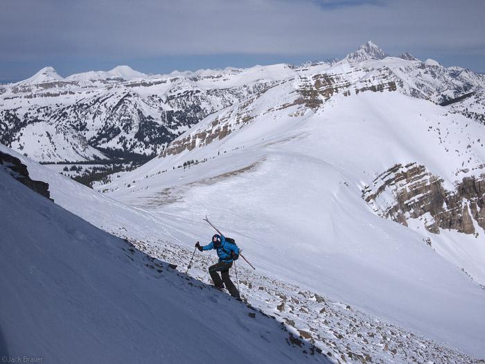 Ski hiking in the Tetons