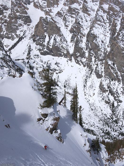 Skiing the Turkey Chute