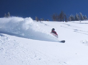 Jack Brauer carves the powder