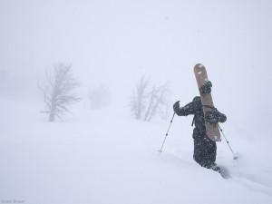 Hiking up Teton Pass